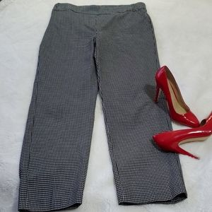 Houndstooth Pants with Stretch Size 16